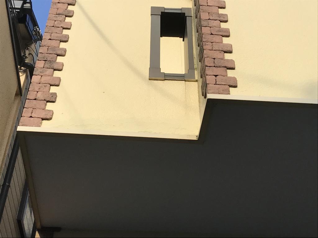 外壁補修工事 タッチアップできれいに補修 京都市山科区n様邸