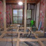 京都市左京区O様邸全面改修工事~床下に土間コンを打設します!新しい間取りに合わせて柱を補強していきます!~