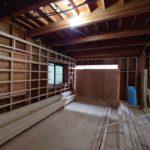 京都市西京区A様邸の1階・2階全面フルリフォーム!2世帯住宅へと生まれ変わります!大工工事が始まりました!壁・天井・床の下地工事を行います!